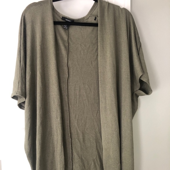 Forever 21 Sweaters - Olive Green Cardigan